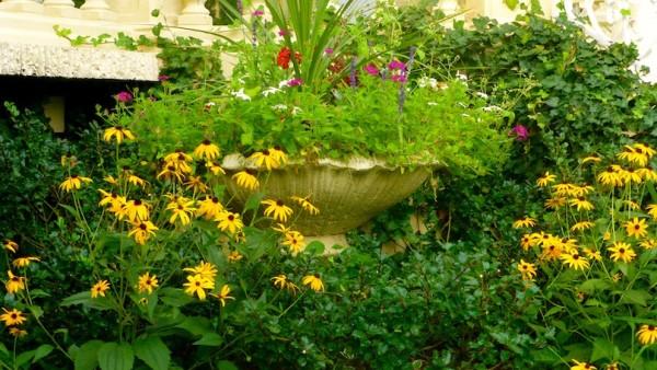 ceremony garden flowers